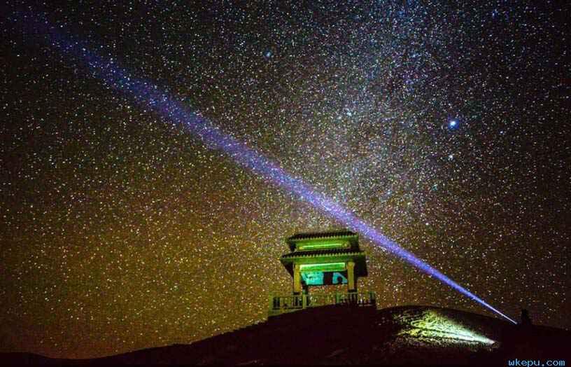 敦煌阳关景区繁星璀璨