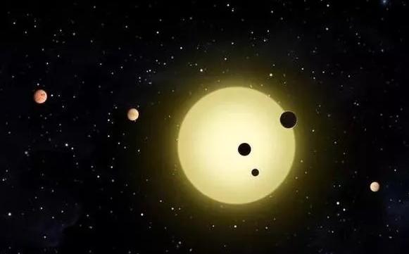 开普勒-11系统,其中包含六颗紧密绕行星的行星。